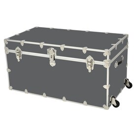 Rhino Trunk And Case 69 Gallon Slate Wheeled Wood Storage Trunk