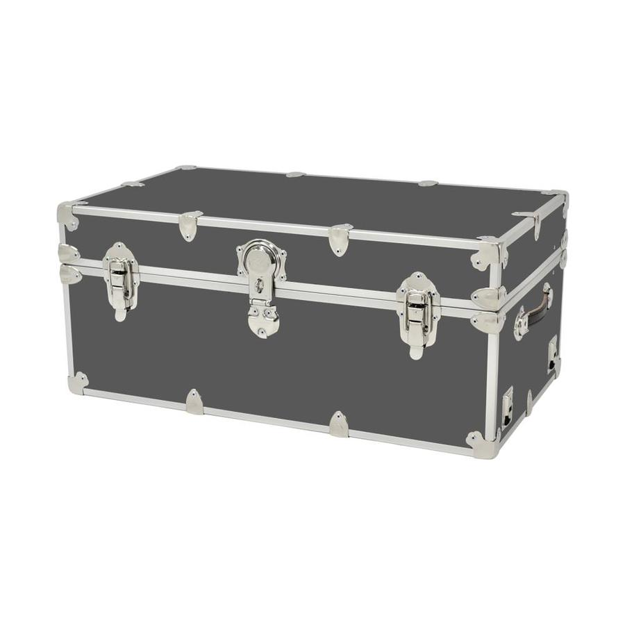 Rhino Trunk and Case 31-Gallon Slate Large Armor Wood Storage Trunk