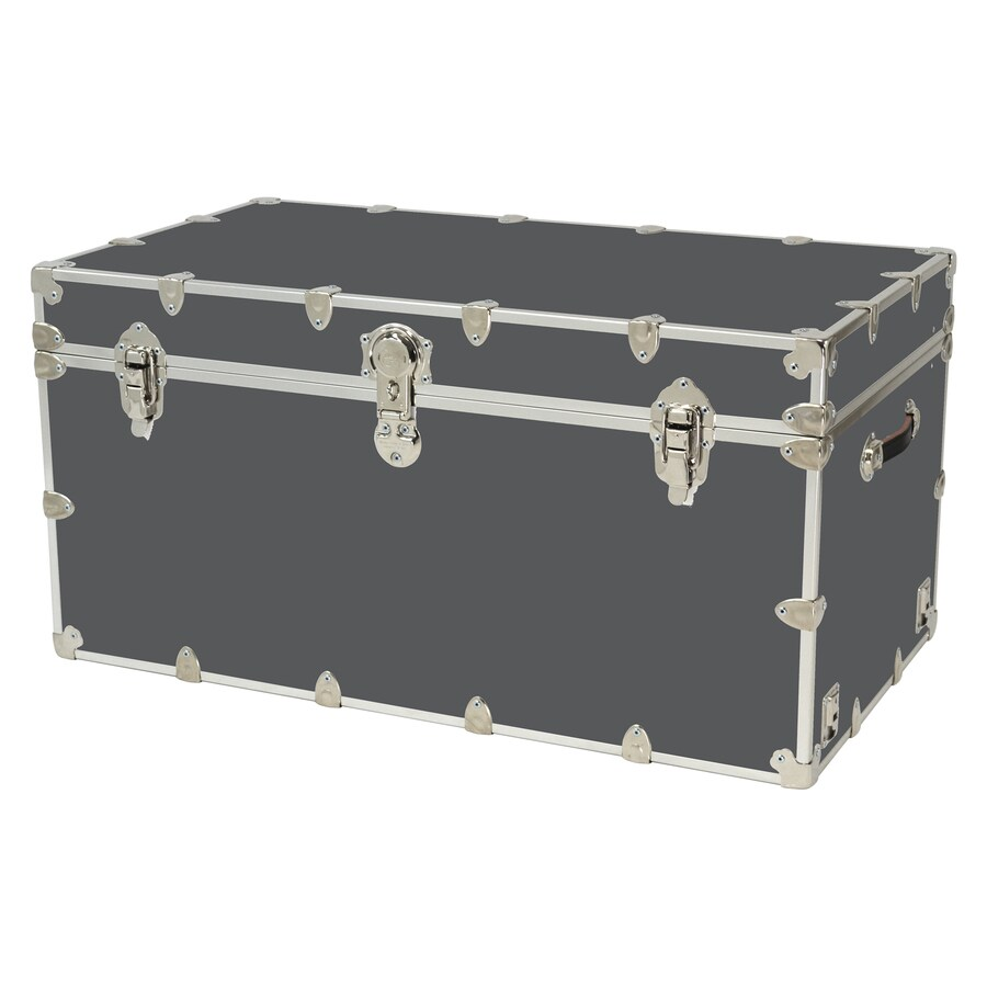 Rhino Trunk and Case 69-Gallon Slate Wood Storage Trunk