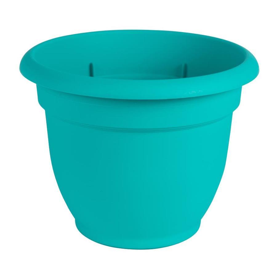 Bloem 10.8-in x 8.5-in Calypso Resin Self Watering Planter