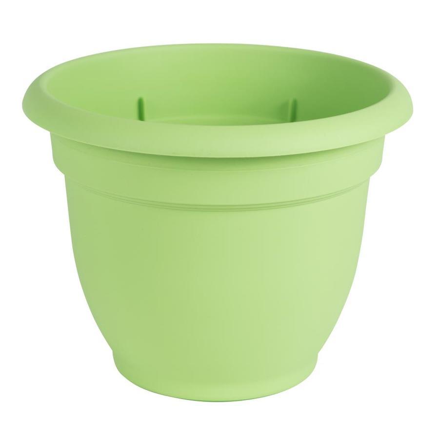Bloem 13-in x 10.1-in Honey Dew Resin Self Watering Planter