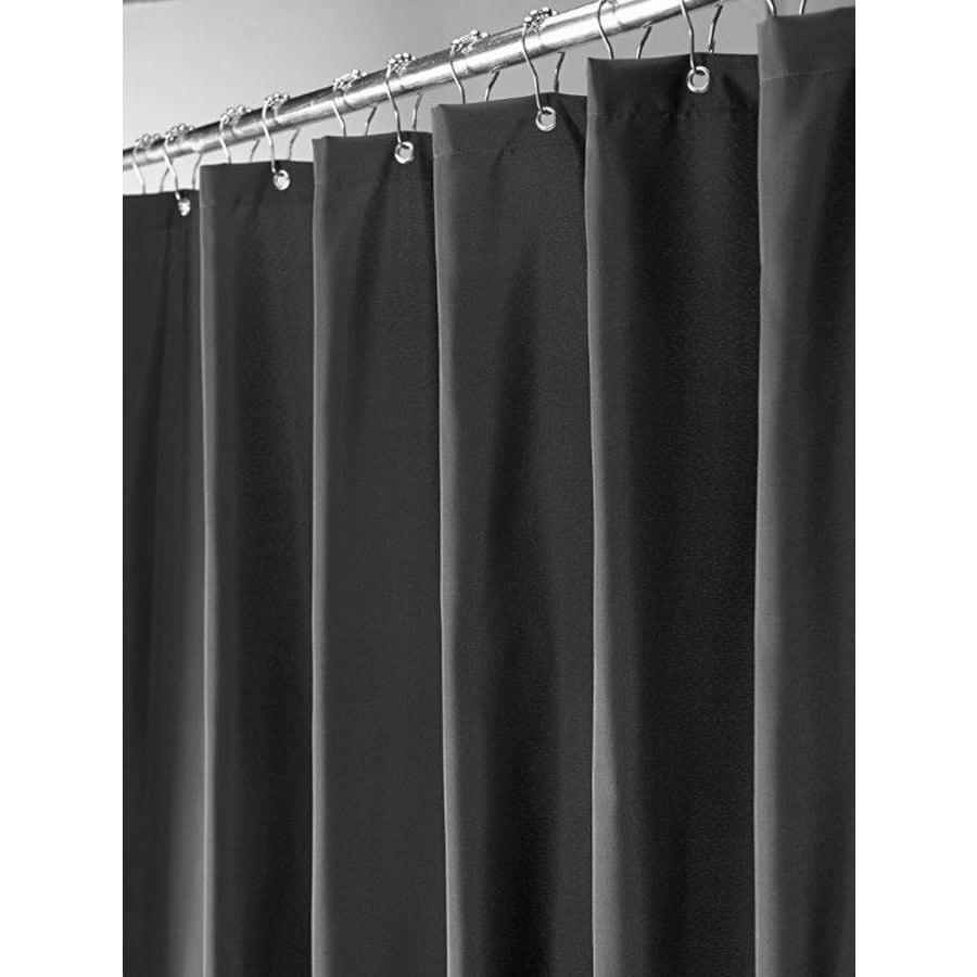 Moda at Home Prime Polyester Black Solid Shower Curtain