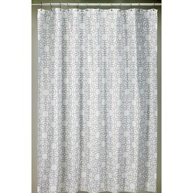 Moda At Home Lattice Polyester Grey Geometric Shower Curtain