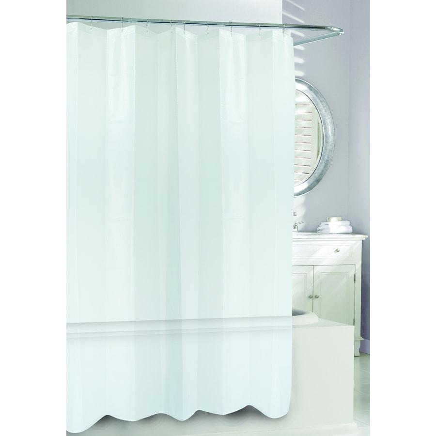Moda at Home 3D EVA/PEVA Clear Geometric Shower Curtain