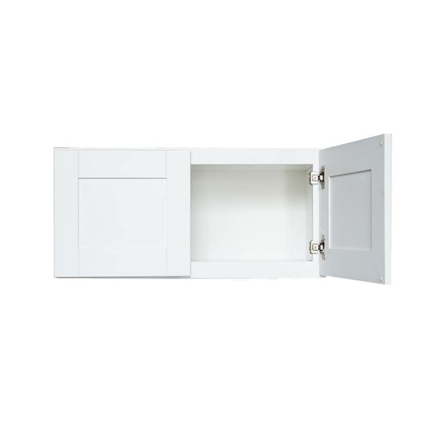 White Kitchen Cabinets Lowes: Arcade Green 30-in W X 12-in H X 12-in D White Birch Door