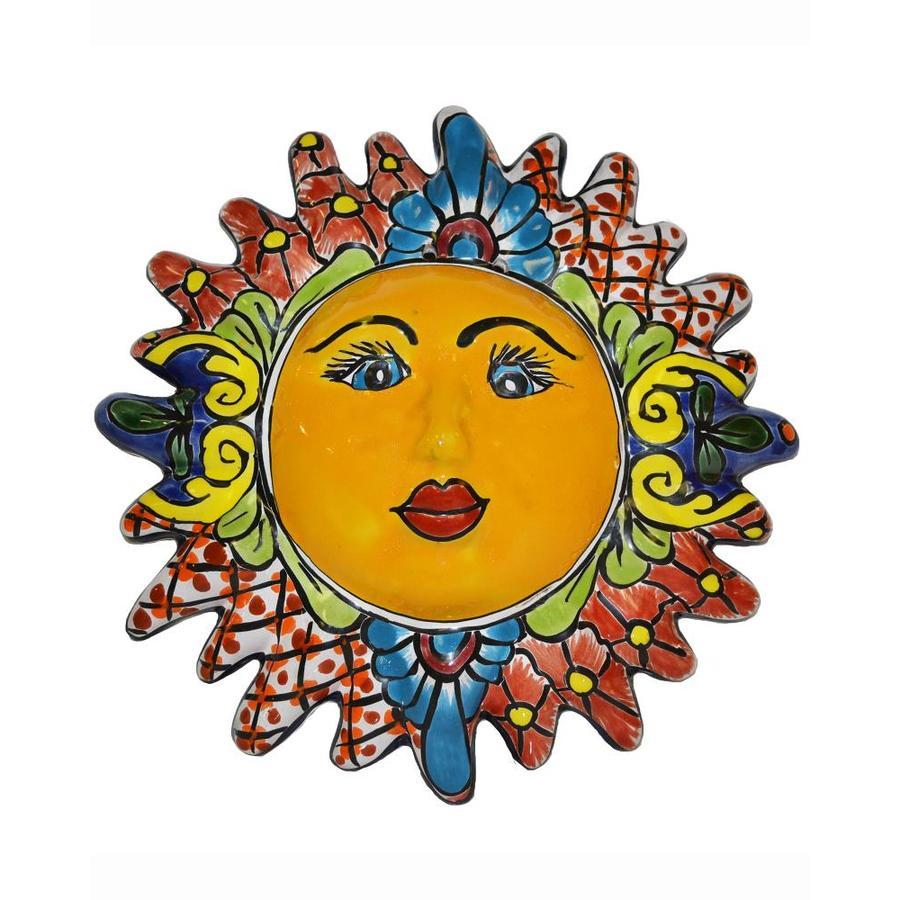 Shop Blue Orange Pottery Talavera Sun at Lowes.com