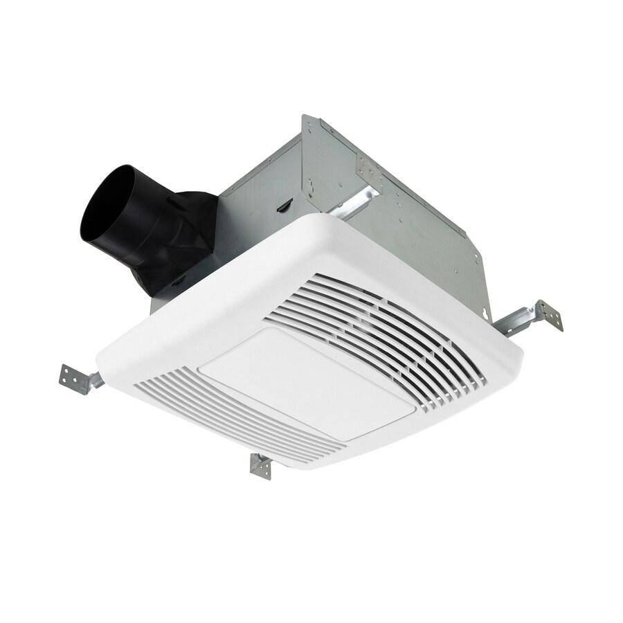Utilitech 1-1/2 Sones 140-CFM White Bathroom Fan and Night Light ENERGY STAR