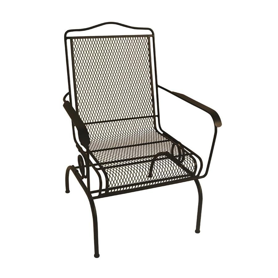 Garden Treasures Stackable Iron Spring Motion Dining Chair With Mesh Seat