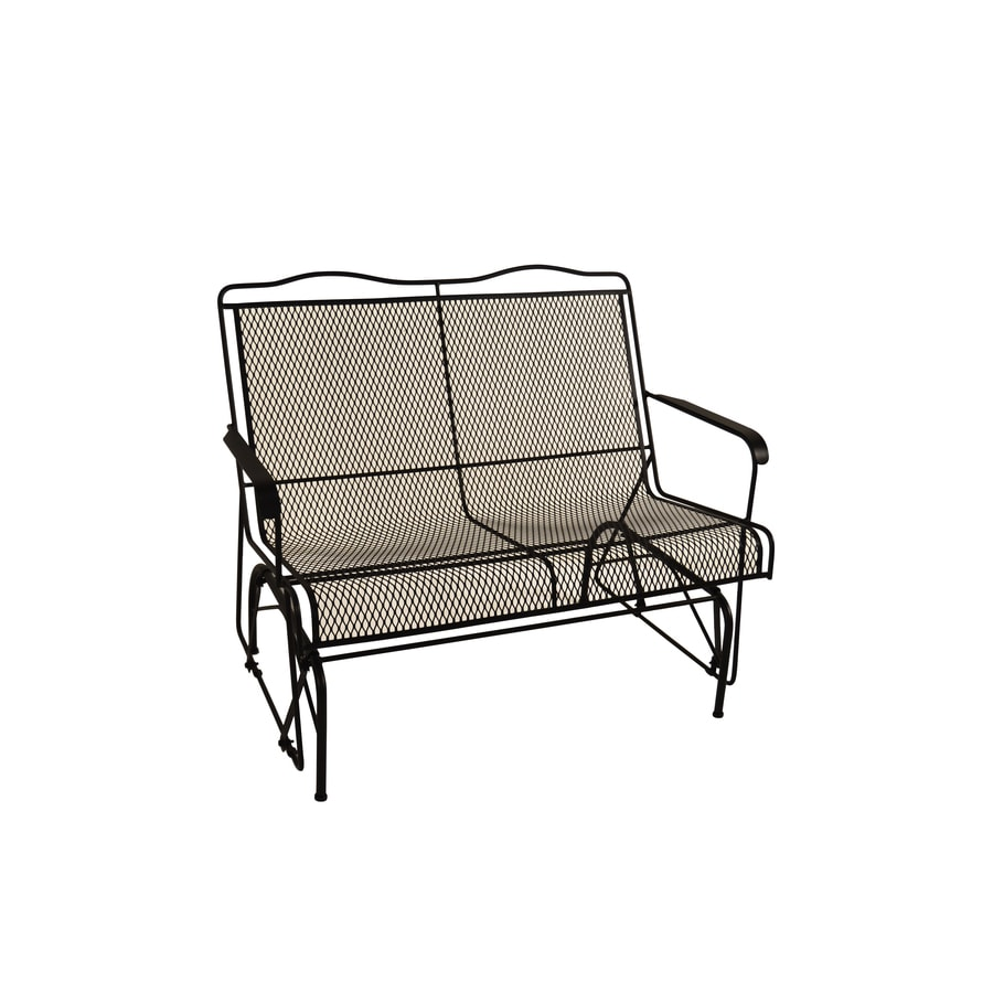 Davenport Black Wrought Iron Patio Rocking Chair