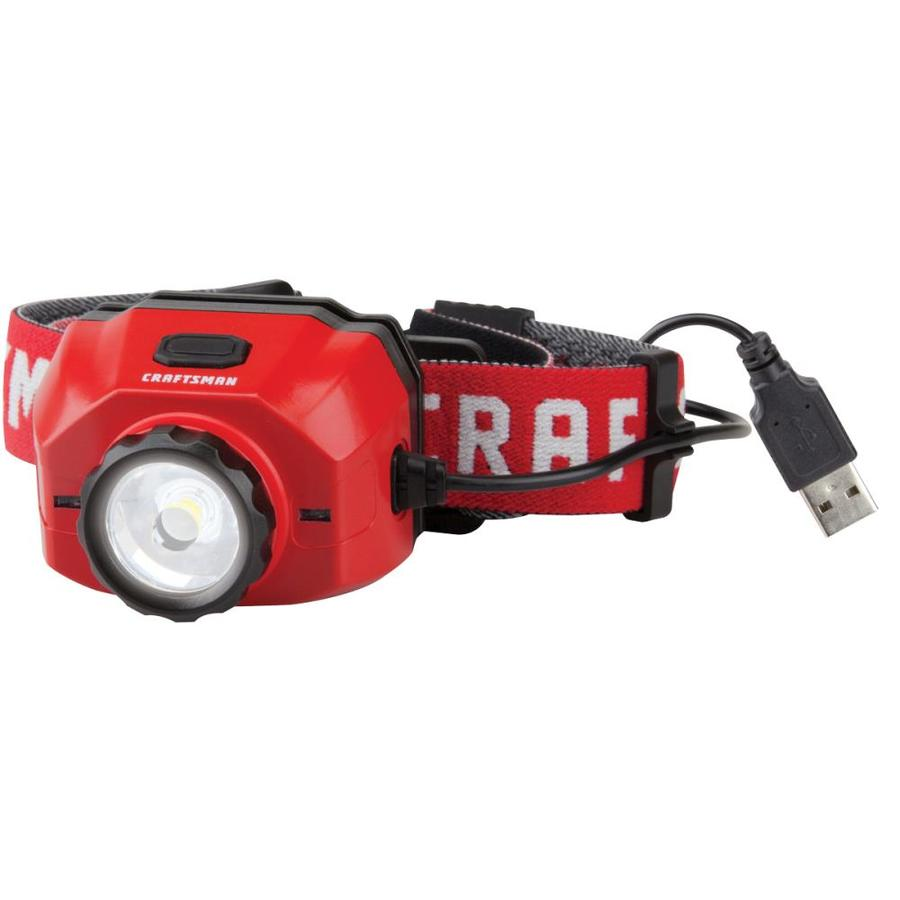 CRAFTSMAN 500-Lumen LED Rechargeable Headlamp (Battery