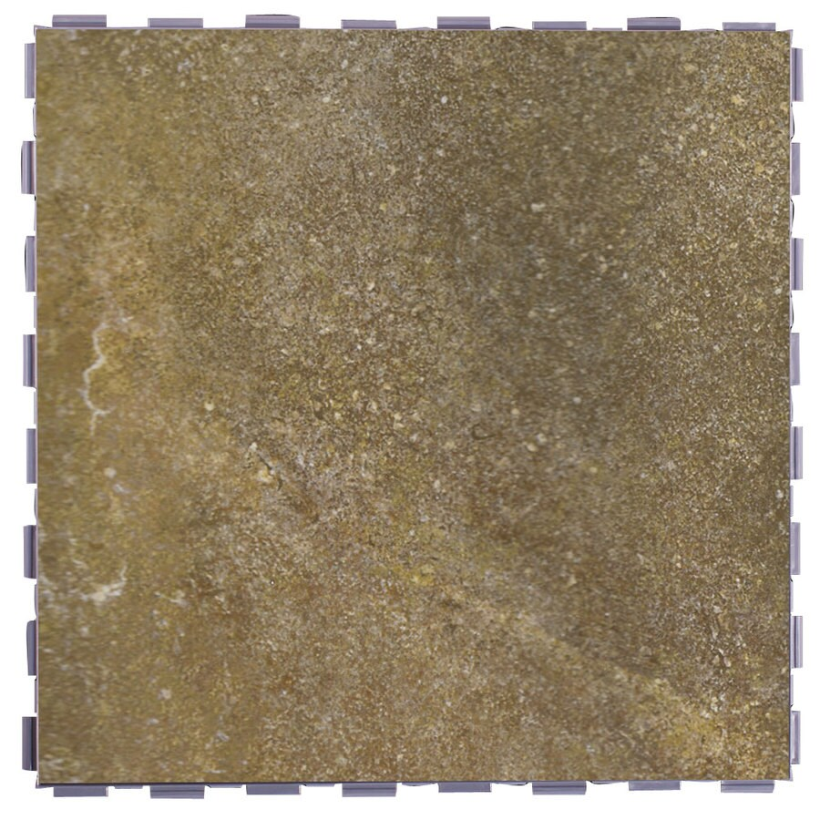 SnapStone 5-Pack Interlocking Shell Glazed Porcelain Floor Tile (Common: 12-in x 12-in; Actual: 12-in x 12-in)