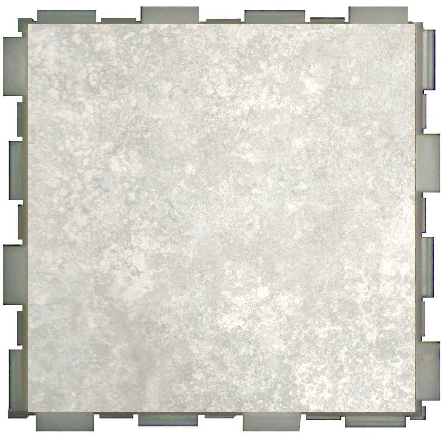 Shop snapstone interlocking 12 pack mist porcelain floor tile snapstone interlocking 12 pack mist porcelain floor tile common 6 in x dailygadgetfo Gallery