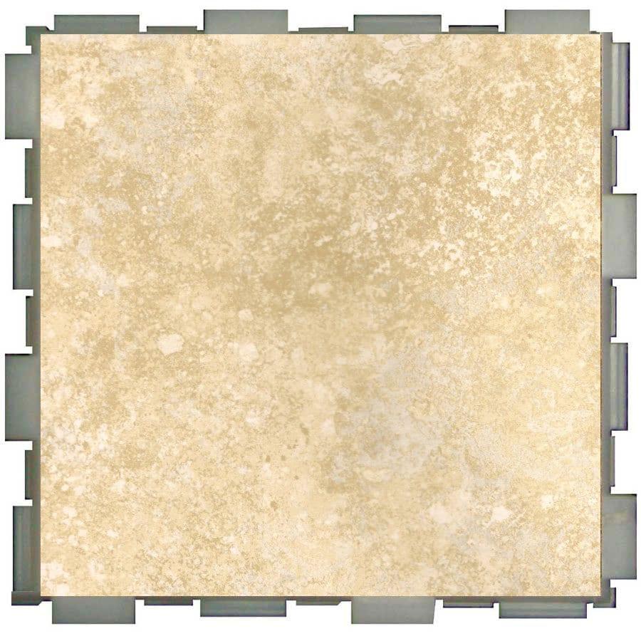 Interlocking Vinyl Floor Tiles Bathroom: Shop SnapStone 12-Pack Interlocking Shell Glazed Porcelain