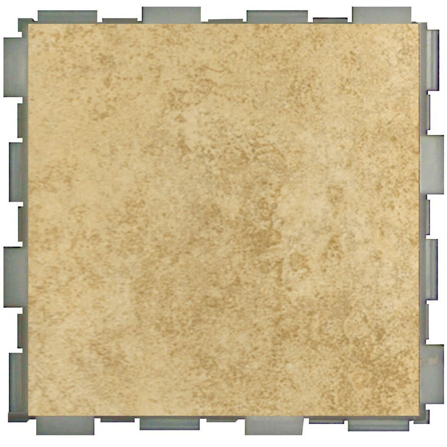 SnapStone Interlocking 12-Pack Sand Porcelain Floor Tile (Common: 6-in x 6-in; Actual: 6-in x 6-in)