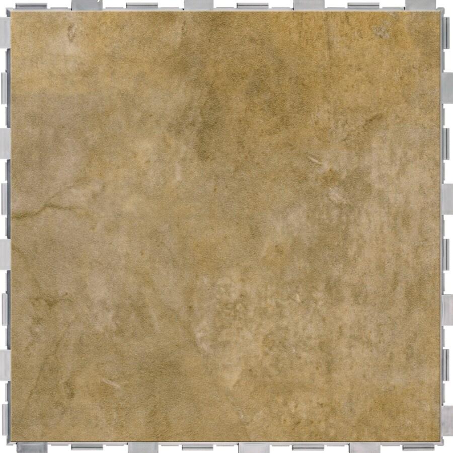 SnapStone Interlocking 4-Pack Sierra Porcelain Floor Tile (Common: 18-in x 18-in; Actual: 18-in x 18-in)