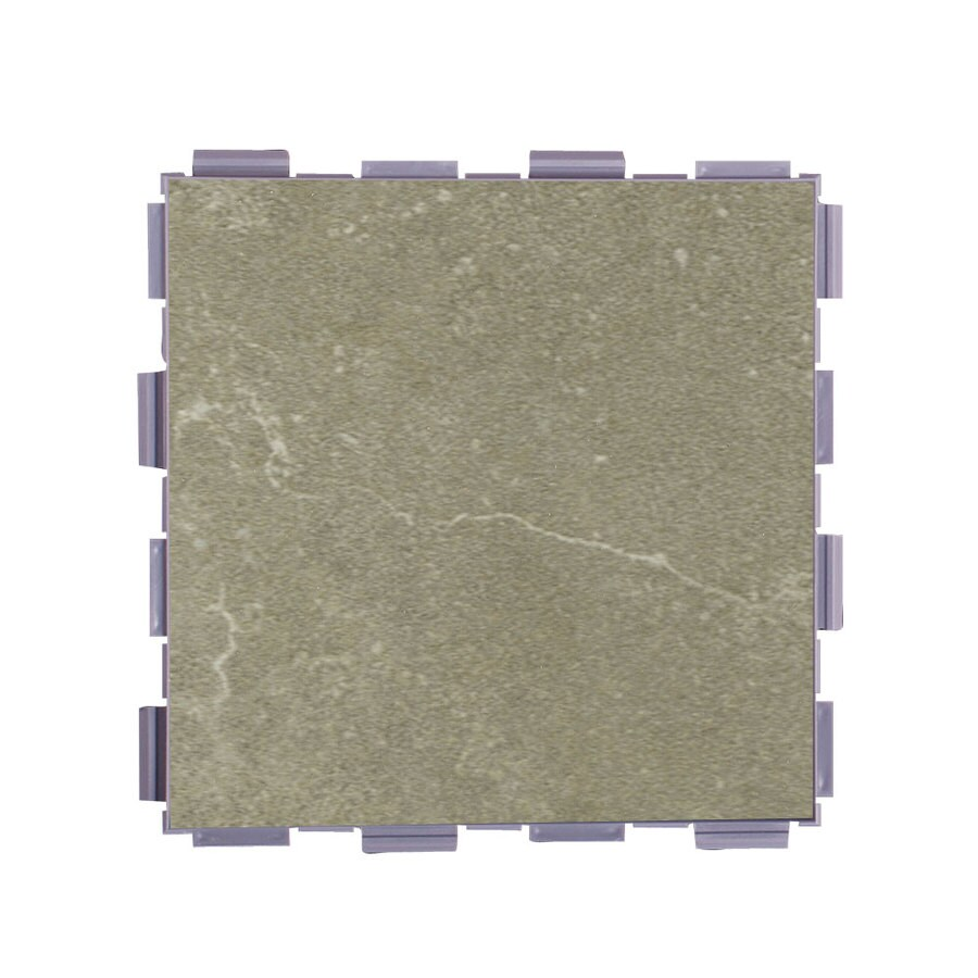 SnapStone Interlocking 12-Pack Endicott Porcelain Floor Tile (Common: 6-in x 6-in; Actual: 6-in x 6-in)