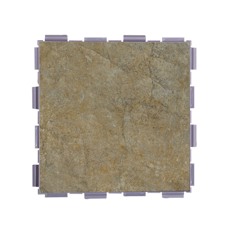 SnapStone Interlocking 12-Pack Paxton Porcelain Floor Tile (Common: 6-in x 6-in; Actual: 6-in x 6-in)