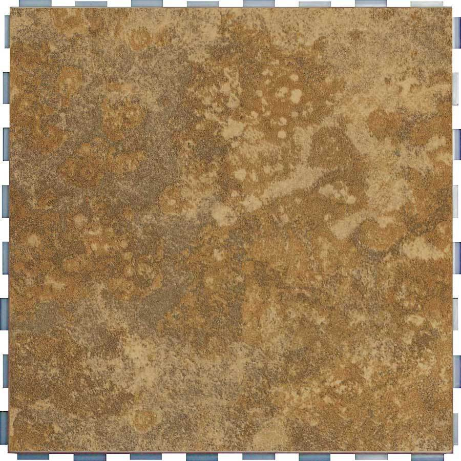 SnapStone Interlocking 5-Pack Camel Porcelain Floor Tile (Common: 12-in x 12-in; Actual: 12-in x 12-in)