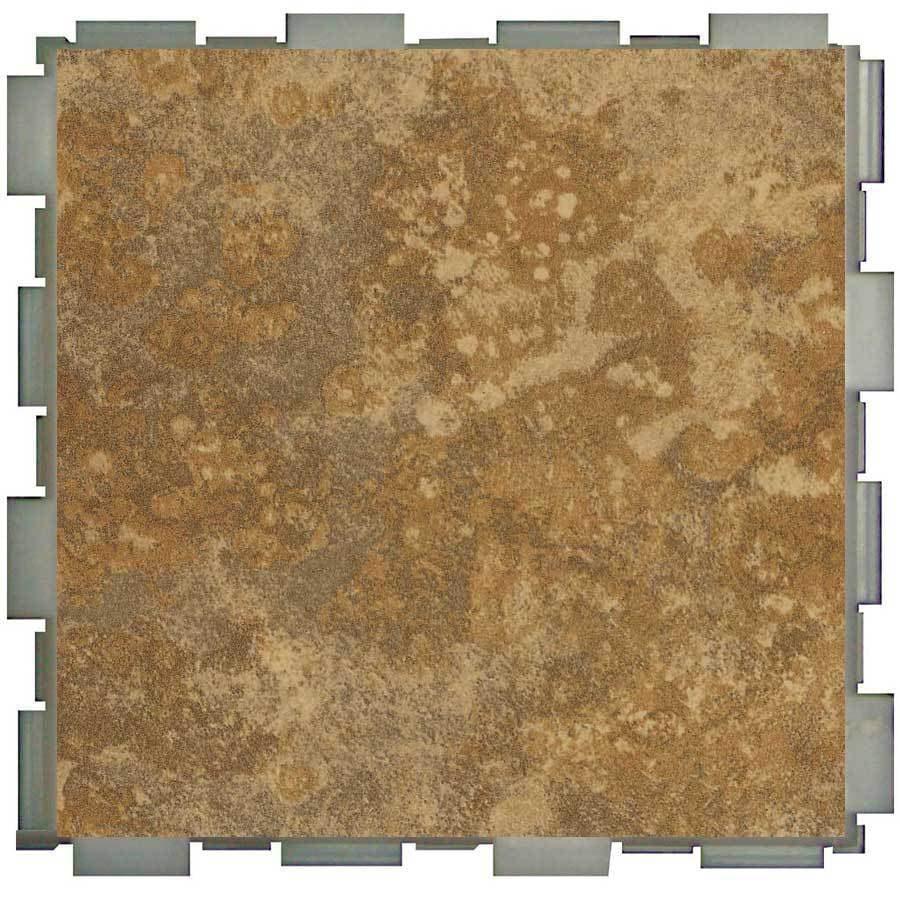 SnapStone Interlocking 12-Pack Camel Porcelain Floor Tile (Common: 6-in x 6-in; Actual: 6-in x 6-in)