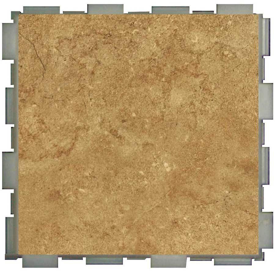 Shop SnapStone Interlocking Pack Mocha Porcelain Floor Tile - Click together tile ceramic floor tiles