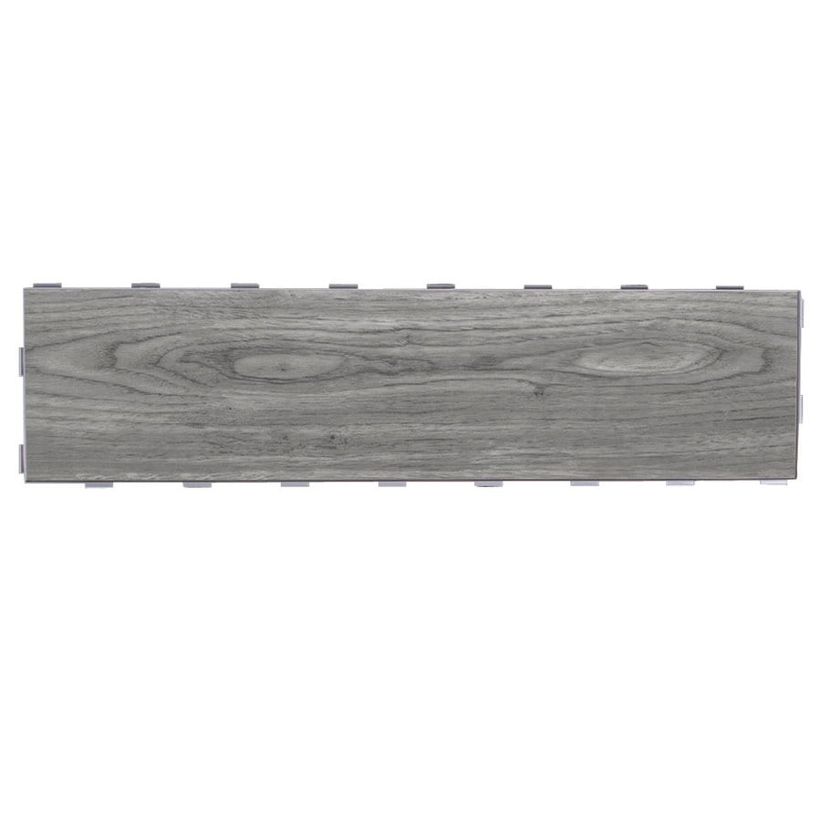 Shop snapstone interlocking 5 pack weathered grey wood look snapstone interlocking 5 pack weathered grey wood look porcelain floor tile common 6 dailygadgetfo Image collections