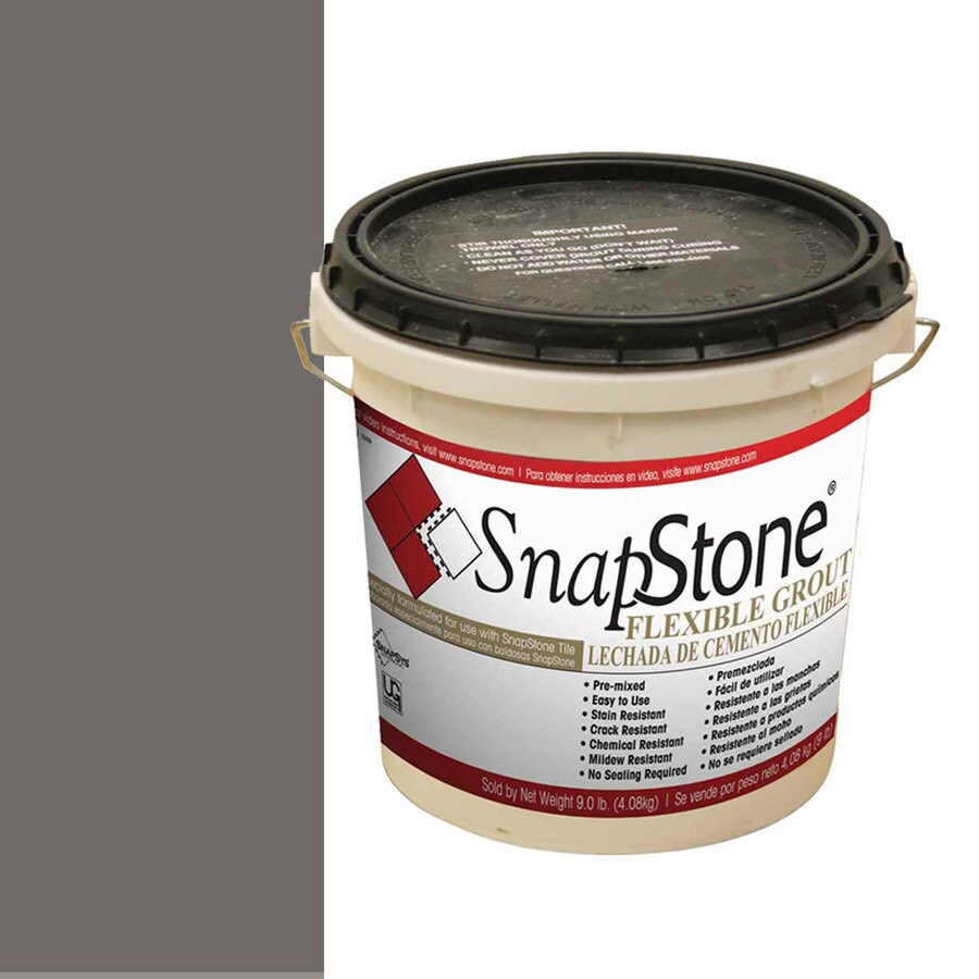 Shop Snapstone Charcoal Grey Urethane Premixed Grout At