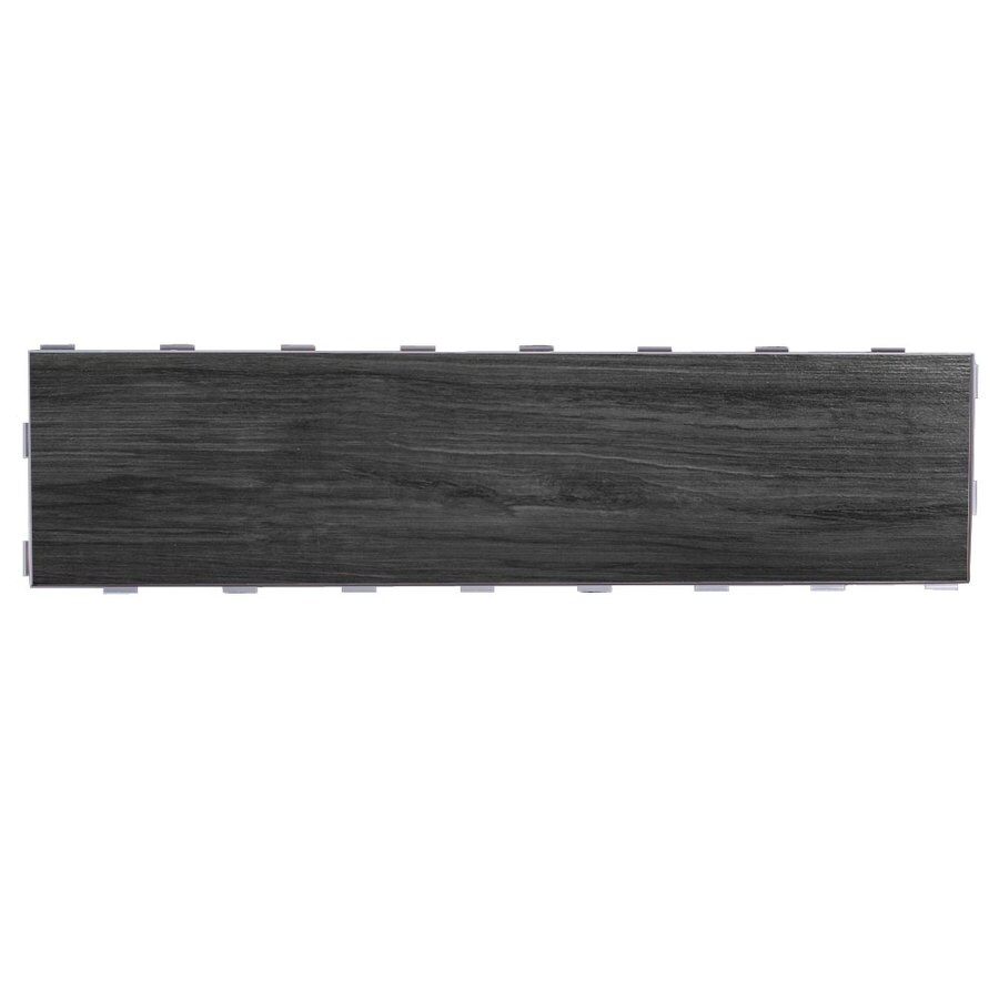 SnapStone Interlocking 5-Pack Shadow Wood Look Porcelain Floor Tile (Common: 6-in x 24-in; Actual: 23.79-in x 5.95-in)