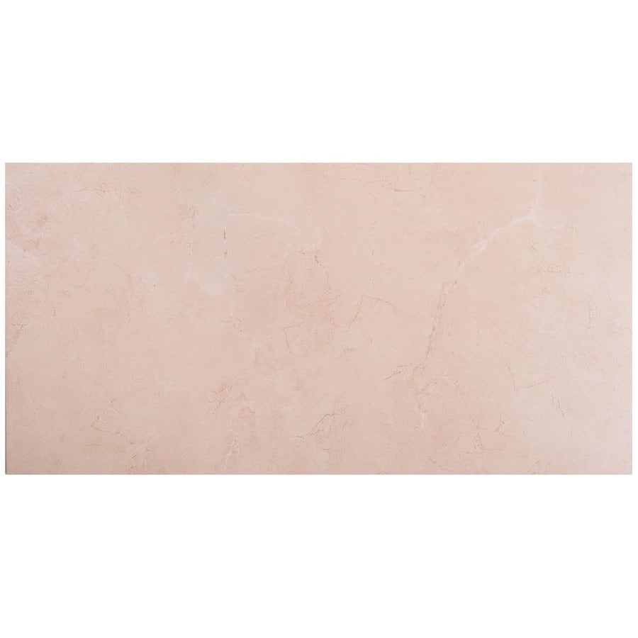 SnapStone Non-Interlocking 8-Pack Seashell Porcelain Floor Tile (Common: 12-in x 24-in; Actual: 23.63-in x 11.74-in)
