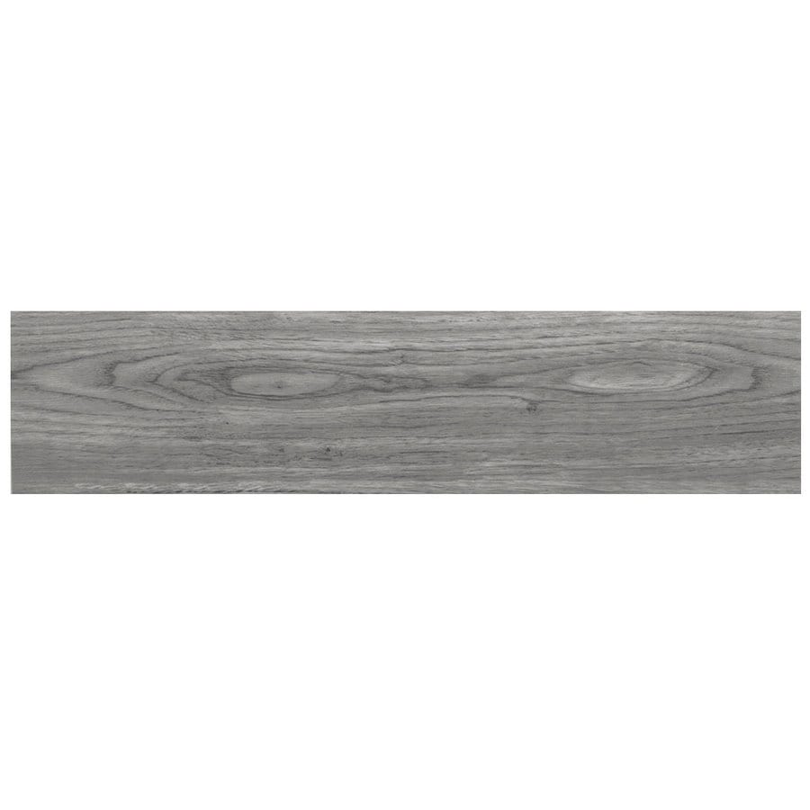 Snapstone Non Interlocking 11 Pack Weathered Grey Wood Look Porcelain Floor Tile Common
