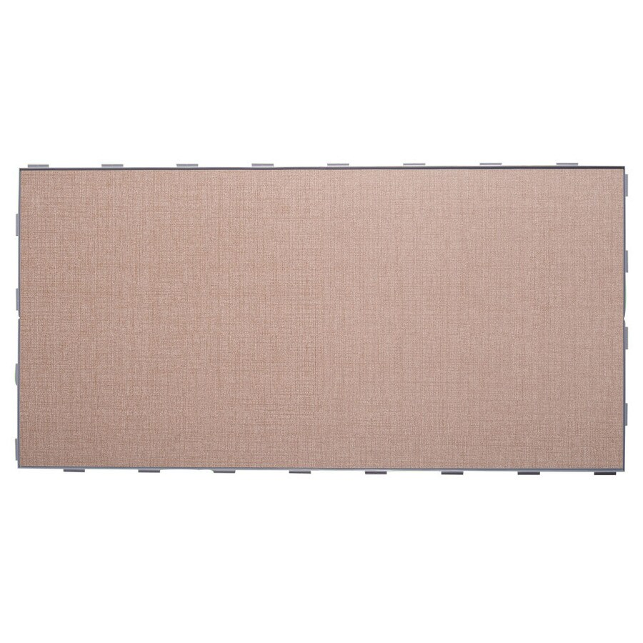 SnapStone Interlocking 4-Pack Jacquard Porcelain Floor Tile (Common: 12-in x 24-in; Actual: 23.79-in x 11.89-in)
