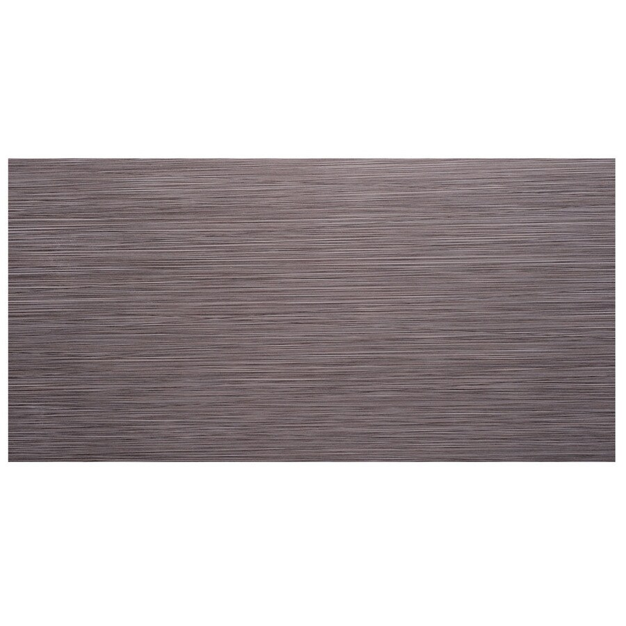 SnapStone Non-Interlocking 8-Pack Graphite Porcelain Floor Tile (Common: 12-in x 24-in; Actual: 23.63-in x 11.74-in)