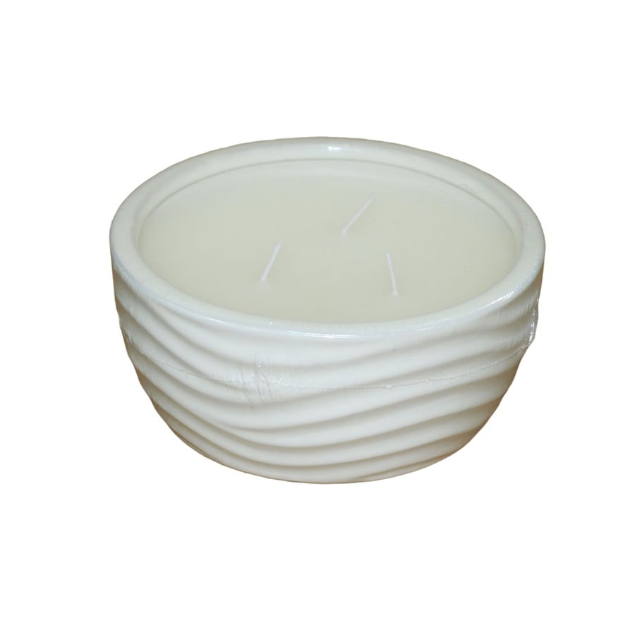 allen + roth 3-Wick White Tabletop Citronella Candle