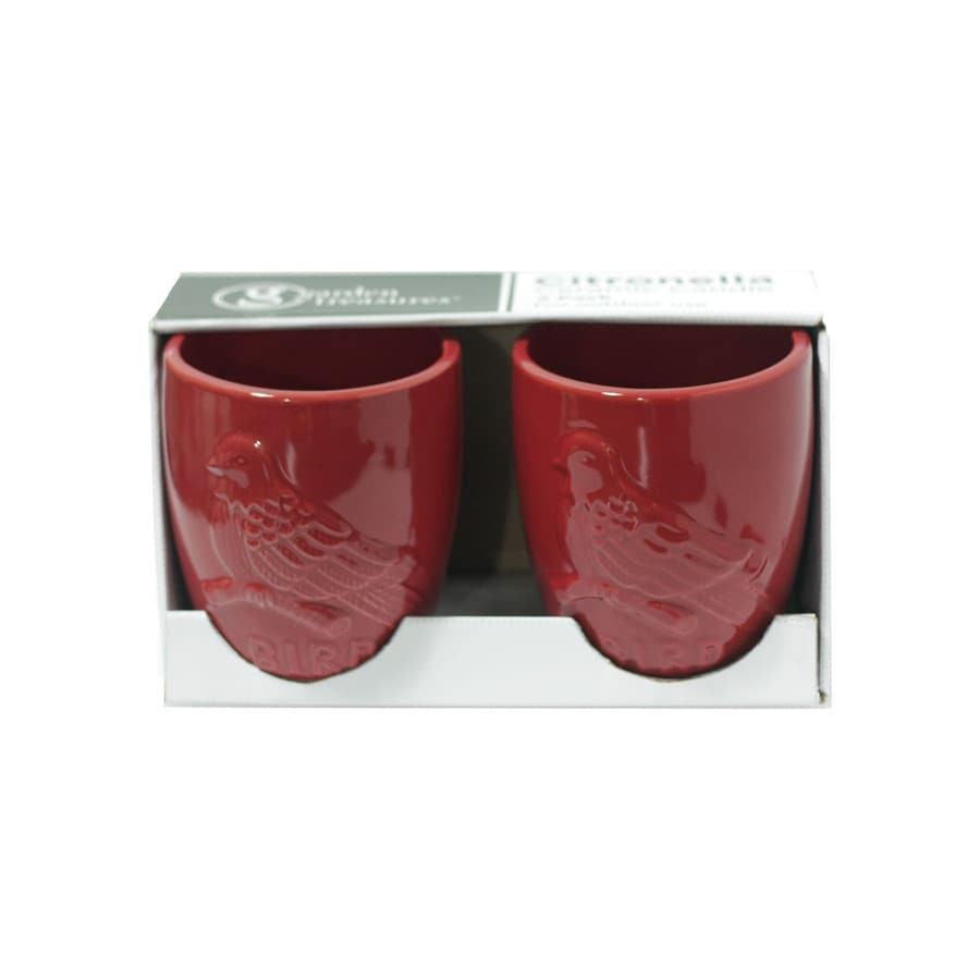 Garden Treasures 2-Pack 1-Wick Red Tabletop Citronella Candle
