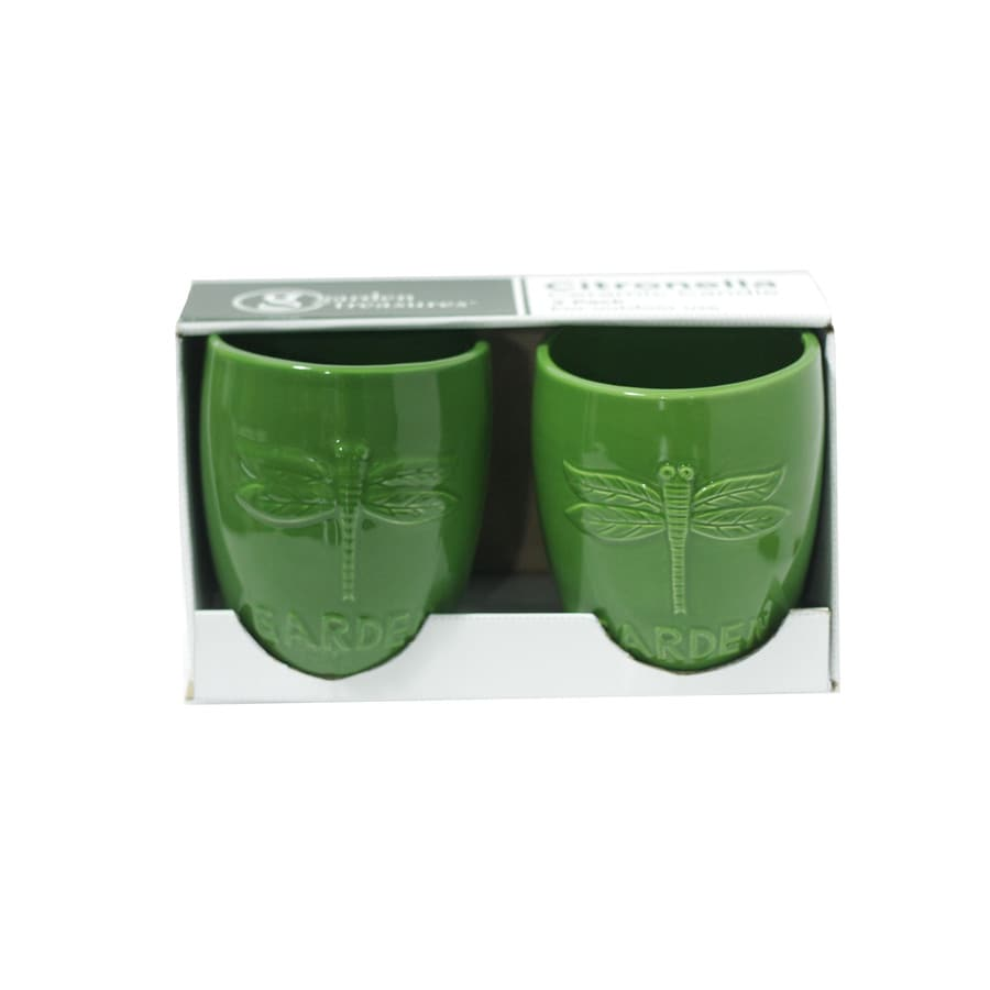 Garden Treasures 2-Pack 1-Wick Green Tabletop Citronella Candle