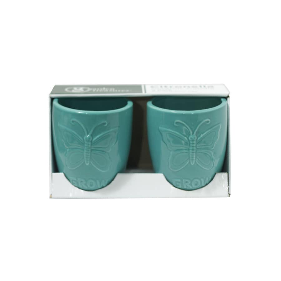 Garden Treasures 2-Pack 1-Wick Blue Tabletop Citronella Candle