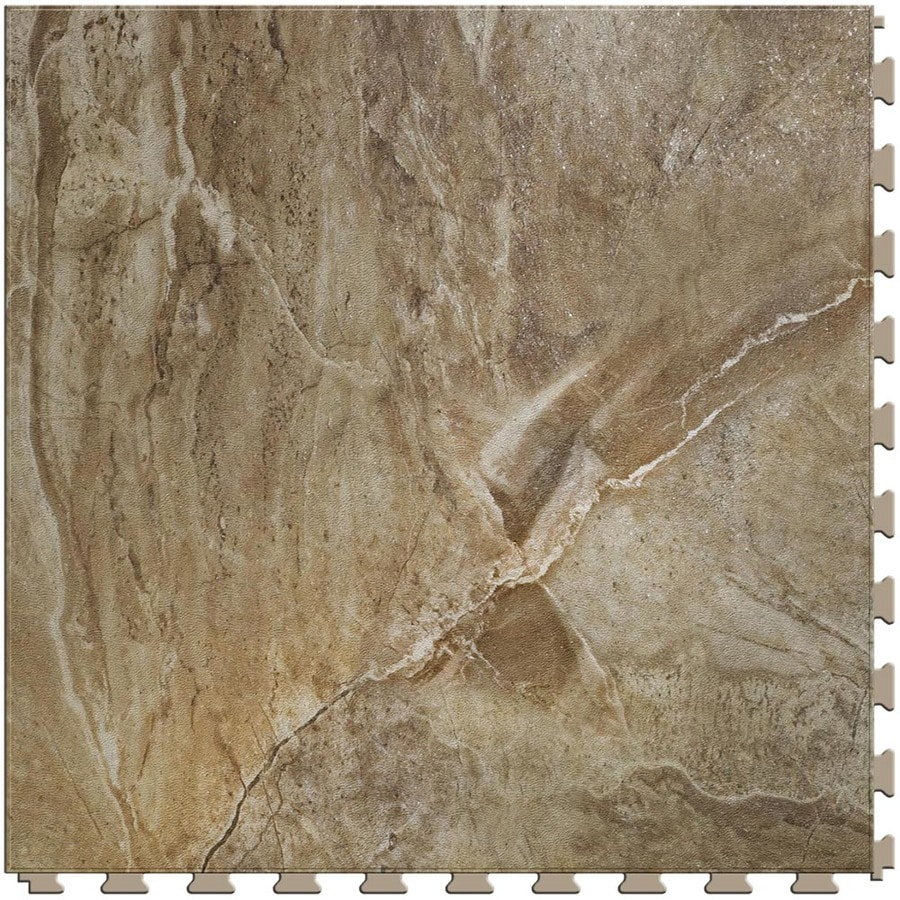 Perfection Floor Tile LVT 6-Piece 20-in x 20-in Canyon Stone Loose Lay Pattern Luxury Commercial/Residential Vinyl Tile