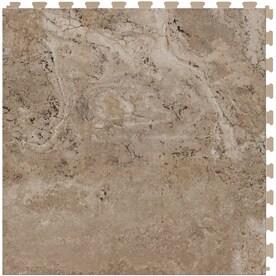 perfection floor tile travertine 6piece 20in x 20in locking pattern