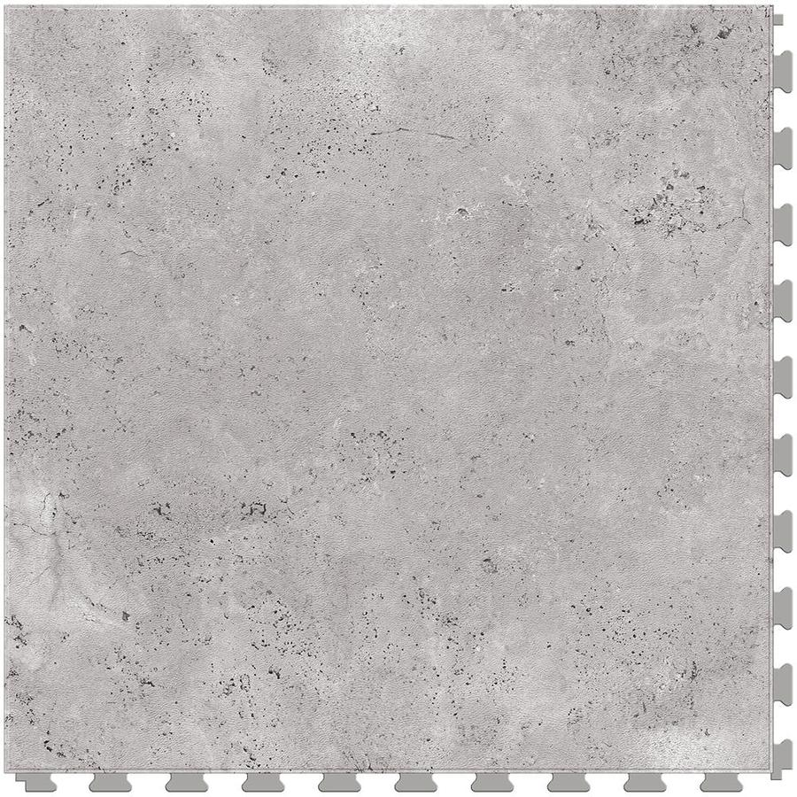 Perfection Floor Tile Travertine 6-Piece 20-in x 20-in Silver Locking Pattern Luxury Vinyl Tile Commercial/Residential Vinyl Tile