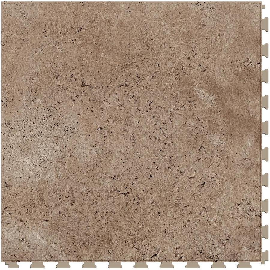 Perfection Floor Tile Travertine 6 Piece 20 In X 20 In Sienna Locking