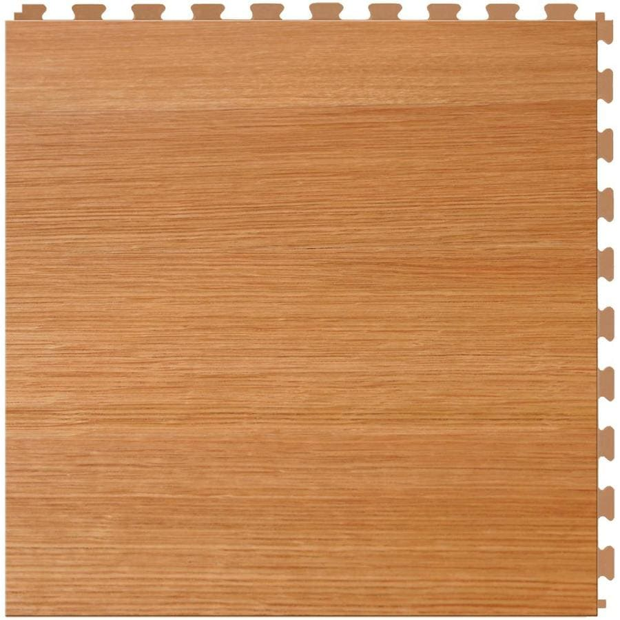 Perfection Floor Tile Lvt 6-Piece 20-in x 20-in Maple Floating Wood Luxury Commercial/Residential Vinyl Tile