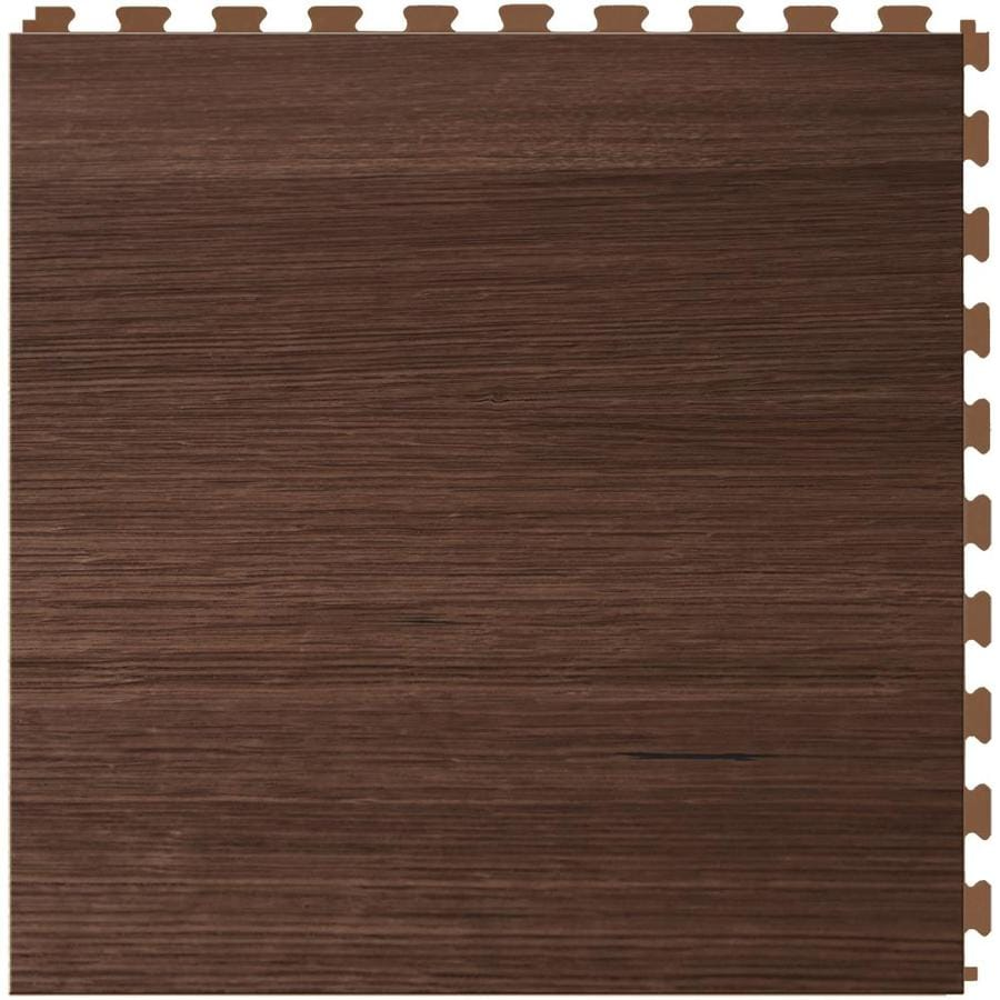 Perfection Floor Tile Lvt 6-Piece 20-in x 20-in Walnut Wood Loose Lay Wood Luxury Vinyl Tile Commercial/Residential Vinyl Tile