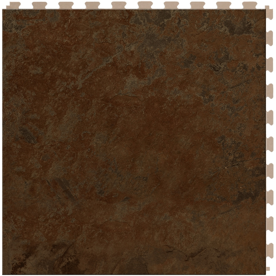 Shop Perfection Floor Tile Lvt 6 Piece 20 In X 20 In Brown