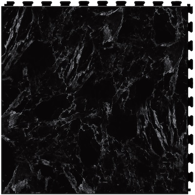 Perfection Floor Tile Gemstone 6 Piece 20 In X 20 In Black
