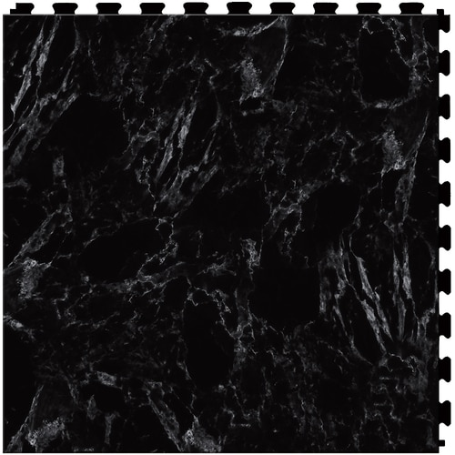 Perfection Floor Tile Gemstone 6 Piece 20 In X 20 In Black