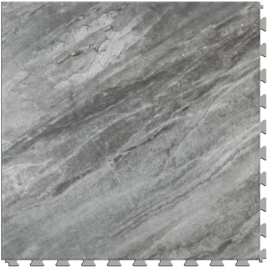 Shop perfection floor tile gemstone 6 piece 20 in x 20 in for Black vinyl floor tiles
