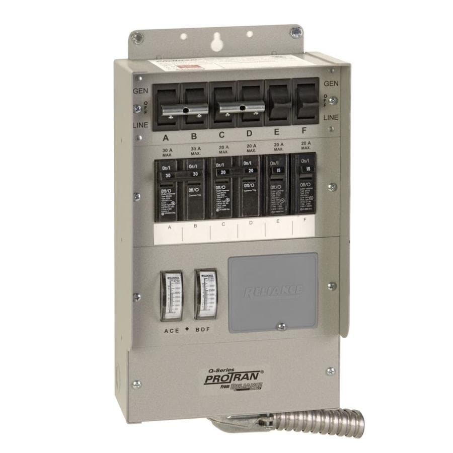 Reliance Heavy Duty 30-Amp 6-Circuit Outdoor Transfer Switch