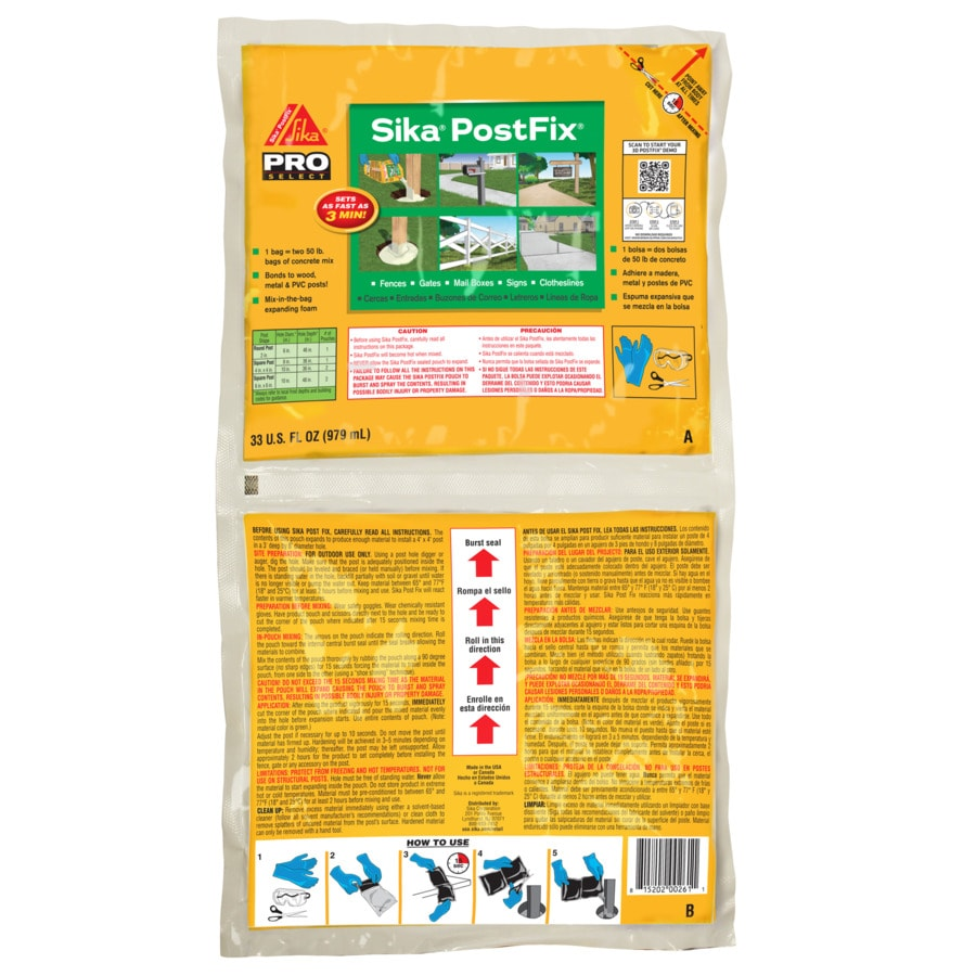 Sika Polyurethane Fence Post Mix (Actual Net Contents: 33-fl oz)