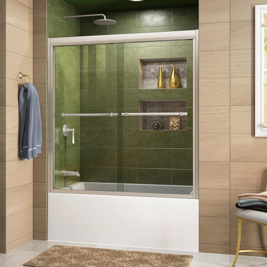 DreamLine Duet 59-in W x 58-in H Frameless Bathtub Door