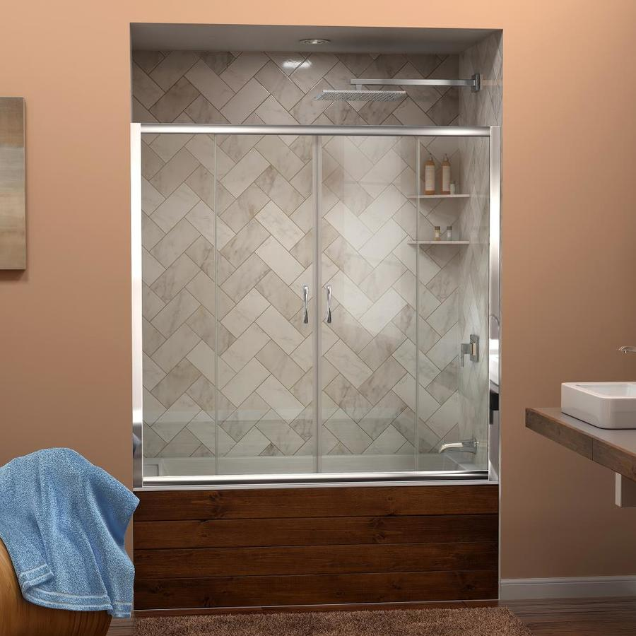 DreamLine Visions 60-in W x 58-in H Frameless Bathtub Door