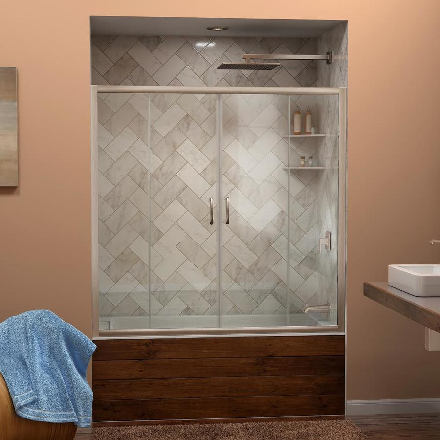 DreamLine Visions 60-in W x 58-in H  Bathtub Door